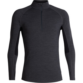 Icebreaker 200 Zone Longsleeve Shirt Halve Rits Heren, jet heather/black